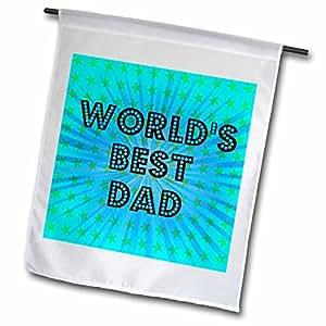 PS Creations–worlds BEST DAD 星星–父亲节–艺术–旗帜 12 x 18 inch Garden Flag