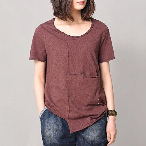 自语2017新款夏装短袖T恤女简约纯色棉打底衫宽松显瘦上衣文艺潮