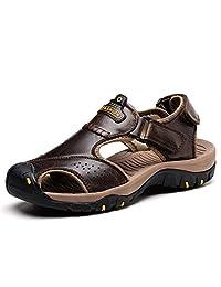 AOSENDUN 奥森盾 爆款沙滩凉鞋 户外运动休闲凉鞋 防撞鞋头 皮鞋码 魔术贴 7238