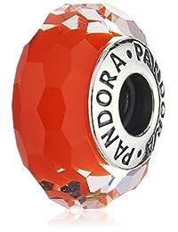 Pandora 潘多拉 纯银多面挂坠 亮橙色 女款 791626(丹麦品牌 香港直邮)(包邮包税)