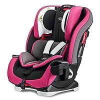 美国 Graco 葛莱 儿童汽车安全座椅基石系列8AE99PRPN紫色(0-12岁)(超长使用期,4段背靠角度调节,10段头靠高度调节,五点式安全带存储格,加强型双侧撞击防护机制,钢管框架结构强化)