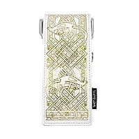 射击! Darts Insignia 飞镖 Case-Darts 钱包 - 旅行 Case-Viking 白色带金色细节