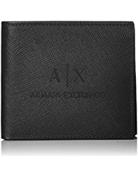 [AX阿玛尼 EXCHCHION]Saffiano皮革 带卡位折叠钱包 MAN'S BIFOLD CREDIT CARD CASE