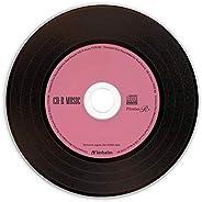 Verbatim 巴贝塔姆 音乐用 CD-R 唱片设计 80分 30张 颜色MIX Phono-R (化妆品) AR80FHX30SV7