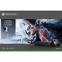 Xbox One X 1TB 游戲主機 +《星球大戰絕地:隕落的武士團》(Star Wars Jedi: Fallen Order )同捆套裝