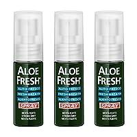 【进口 | 套装】意大利Aloe Fresh瑷芦清芦荟口气清新喷雾剂15ml*3 去口臭 口腔上火