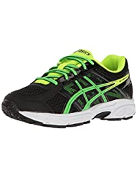 ASICS Kids' Gel-Contend 4 GS Running Shoe Black/Green Gecko/Safety Yellow 5.5 M US 儿童