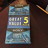 Sony 索尼 6 件装 VHS-C 摄像机视频摄像机 ~ 高级级