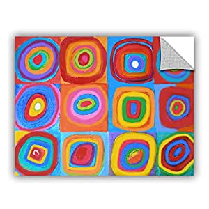 ArtWall Susi Franco's Interpretation of Farbstudie Quadrate Art Appeelz Removable Graphic Wall Art, 14 by 18""
