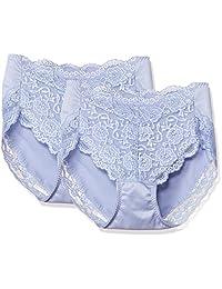 [厚木] 短裤 3D Cover(三深盖) 收腹 深口 背蕾丝 〈2条装〉