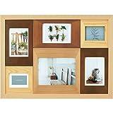 LADONNA 相框 彩色木框 CW33 2L、ポストカード×3、ミニサイズ×2 多面 自然色