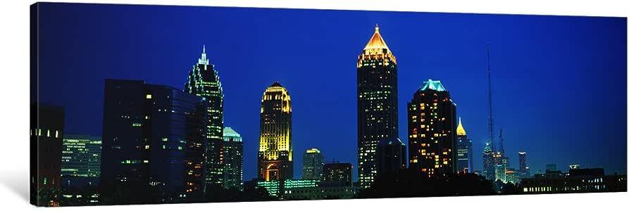 "iCanvasART Skyline Atlanta GA USA Canvas Print by Panoramic Images, 36"" x 12""/0.75"" Deep"