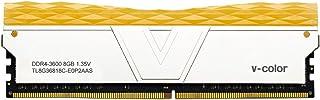 V 色棱镜RGB 8GB (1 x 8GB) DDR4 2666MHz (PC4 21300) CL16 1.2V 台式机内存 -红色(TL48G26S8RGB16) 8GB