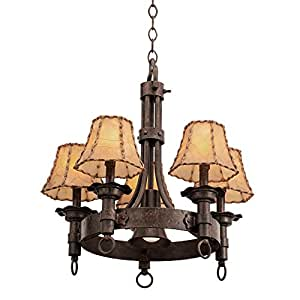Kalco 4205AC/S259 Americana 5 灯吊灯,古铜色