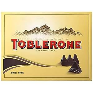 TOBLERONE 瑞士三角 巧克力精装礼盒600g (牛奶巧+黑巧) (瑞士进口)