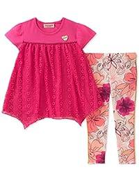 Juicy Couture 橘滋 女童 时尚上衣和紧身裤套装