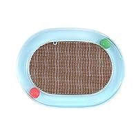 GOHOO PET 猫爬架纸板猫轨道互动球玩具抓板(16.5 x 12.2 英寸,蓝色)