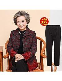 DaiQimi 黛琪迷 中老年人秋装女60-70岁妈妈上衣老人衣服太太奶奶装冬装外套加绒