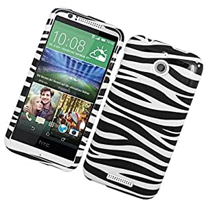 Eagle Cell Snap for HTC Desire 510 - Retail Packaging - Black/White Zebra