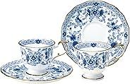 Narumi 鳴海 Milano系列 茶杯茶碟套裝 藍色 200cc 兩組 咖啡 日本制 9682-20515