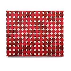 "KESS InHouse KESS 原创""Noblefur Red""圆点桦木墙壁艺术 8"" x 10"" KIH038AHW01"