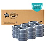 Tommee Tippee Twist and Click 高级绒毛处理香型补充装 Pack of 18