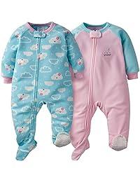 Gerber 女宝宝毛毯睡衣 2 件装