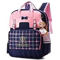 英伦风格女孩背包,适用于学校公主蝴蝶结儿童书包