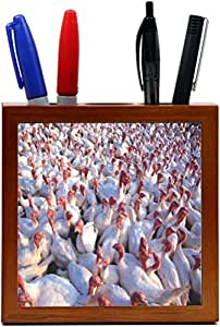 Rikki KnightTM Farm Animals Designs Design 5 Inch Tile Wooden Tile Pen Holder