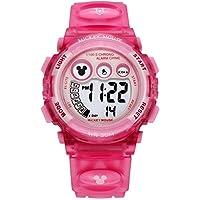 Disney 迪士尼 儿童手表 男孩女孩电子表 防水夜光多功能运动表学生手表 15030P 粉色
