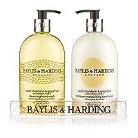 Baylis & Harding 蜜柑&葡萄柚香型(含维他命A,B&C) 500毫升洗手液*1 500毫升护手霜*1 (套装)