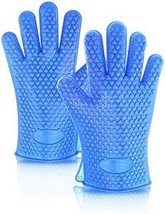 New Star Foodservice 32390 商业级硅胶烤箱手套,蓝色,2 只装