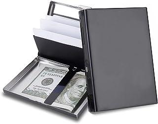 RFID 信用卡夹保护金属信用卡钱包名片夹男女礼品盒包装 02 黑色