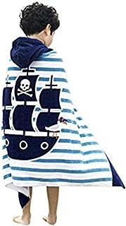 JAMORGANIC 优质儿童连帽浴巾/沙滩/罩衫,适用于年龄 1-5 岁的小宝宝和幼儿,* *棉,24 x 48 英寸(约 61 x 121.9 厘米)美人鱼,超柔软,吸水性强 海盗 24''X48''