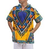 Full Funk Dashiki 轻便连帽衫非洲心形节日派对衬衫短袖
