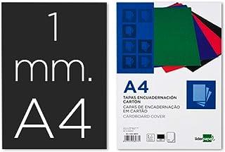 Liderpapel 50 个装订罩 A4, 1 mm 黑色