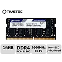 Timetec Hynix DDR4 2666MHz PC4-21300 无缓冲 Non-ECC 1.2V CL19 1Rx8 单列 260 针 SODIMM 笔记本电脑内存 RAM 模块升级76HN26NUS1R 16GB