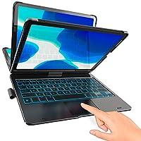 TYPECASE Touch - iPad Pro 11 保护套 2020 带键盘和触摸板 - 魔法键盘风格触控板和智能背光按键,适用于* 1 代和 2 代 11 英寸 iPad 2018-2020,兼容 Apple Pencil (黑色)