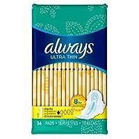 Always Pads 超薄卫生巾 1-36 片常规装(3 件装)