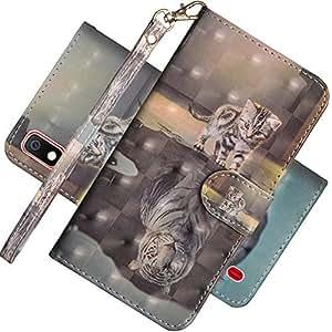 EMAXELER 三星 Galaxy A10 3D 全时尚浮雕手机壳 3D: Cat Tiger