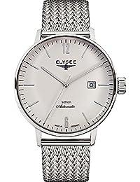 ELYSEE 男式13280可 M executive-edition 模拟显示自动自 WIND 银色手表