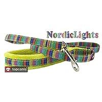 FinNero 宠物产品,芬兰 - NORDIC LIGHTS 狗绳,带柔软羊毛手柄