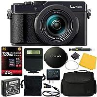 松下 Lumix DC-LX100 II 数码相机(黑色)(DC LX100M2)+ 128GB 4K AOM Pro 套件:国际版本(1 年 AOM 保修)