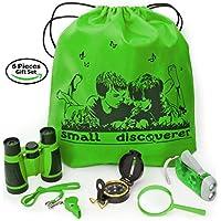 小探险者户外探险套装 - 适合 3-12 岁男孩玩具和女孩玩具 - 儿童冒险套装 - 儿童户外教育套装 绿色