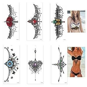 Globalwells 6 件时尚防水阴茎纹身贴纸,临时纹身(B 件套)