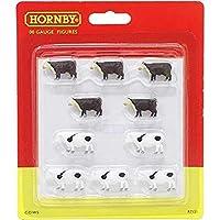 Hornby OO Gauge 奶牛和牛牛奶 1:76 比例迷你模型火车布局 R7121