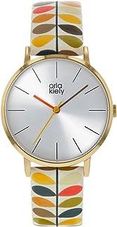 Orla Kiely 欧拉·凯利 中性成人模拟经典石英手表皮革表带 OK2246 银色