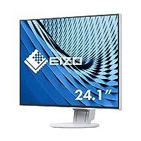 EIZO 艺卓 FlexScan 超薄显示器 EV2456-WT (61.1厘米/24.1英寸)(DVI-D,HDMI,D-Sub,USB 3.1集线器,DisplayPort,5ms响应时间,分辨率1920 x 1200),白色