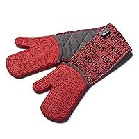 Zeal 硅胶重型双烤箱手套手套 红色 26 x 19 x 26 cm V118R