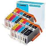 TOINKJET 10 包 PGI-270XL CLI-271XL PGI270 XL CLI271 XL 兼容墨盒替换装 适用于像素ma mg7720 mg5722 mg6822 ts5020 mg6820 mg5720 mg6821 ts9020